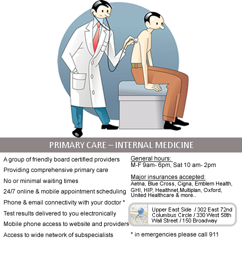 Primary care for Adults<br/>Gastroenterology<br/>Cardiology&nbsp;